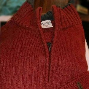 Columbia knit zip pullover